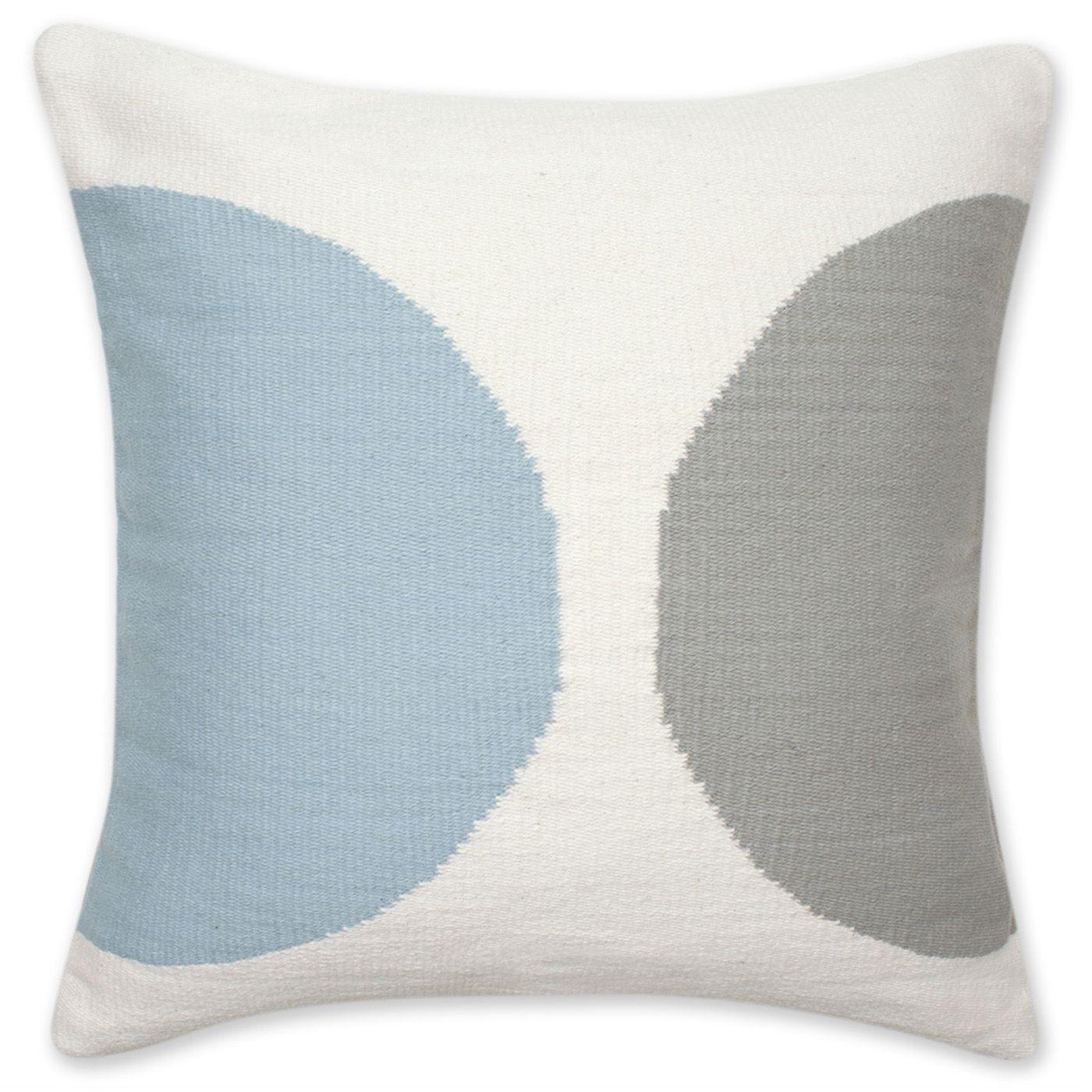 Jonathan Adler Reversible Blue And Grey Half Circle Pop Throw Pillow In Woven Pop Pillows Modern Throw Pillows Wool Throw Pillows Throw Pillows