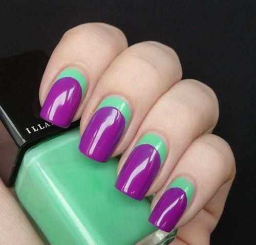 Nail Polish Designs With Two Colors Papillon Day Spa