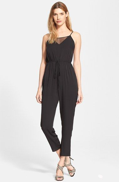 Shop Cheap Milly Stretch Silk Crepe Jumpsuit