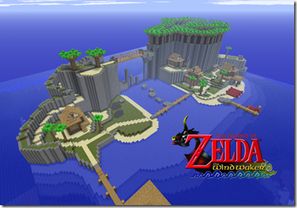 Minecraft : Zelda The Wind Waker Mod two worlds colliding