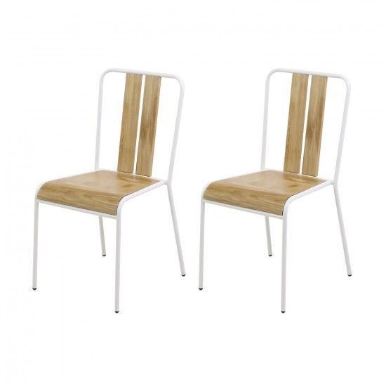 Monoqi 2er Set Dock Stühle Weiß Furniture Chairs Weiße