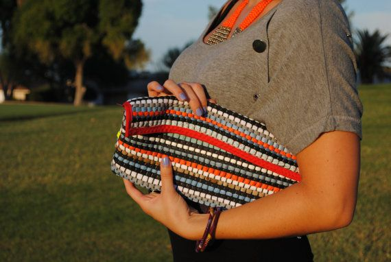 Long multicolor clutch