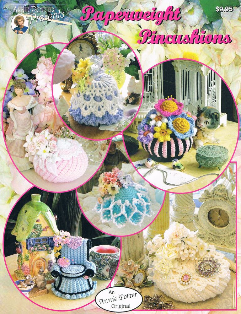 Crochet Paperweight Pincushions crochet pattern by Annie Potter #AnniePotterPresents