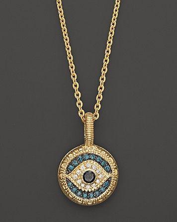 10K White Gold Evil Eye Pendant 10K Gold Evil Eye Charm Protection Necklace,White Gold Evil Eye pendant Protection Eye Evil Eye Pendant