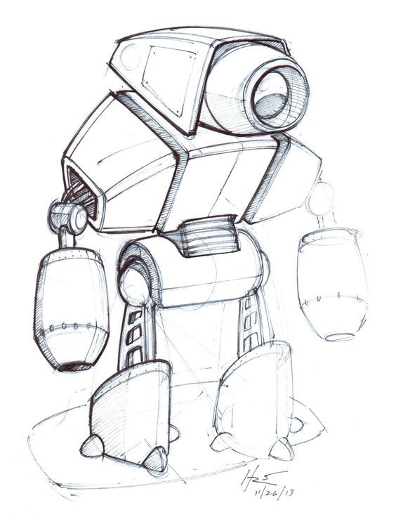 Robot Concept Sketch Google Search With Images Robot Design