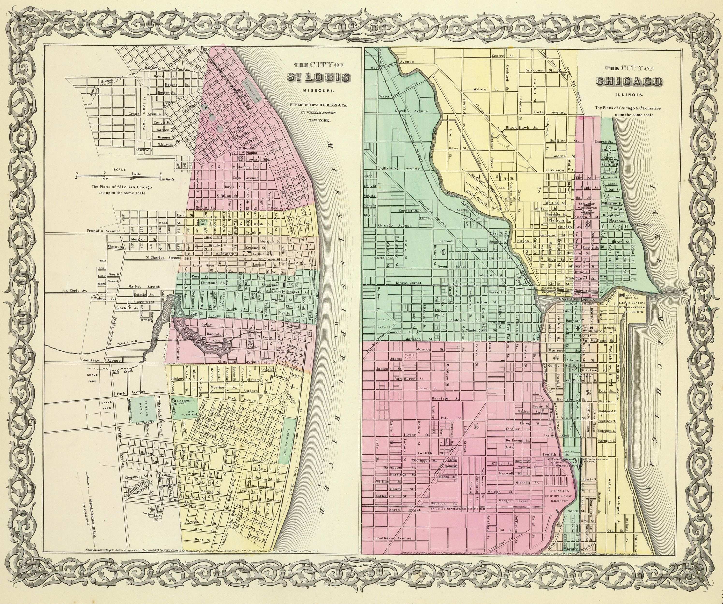 1856 Cities of St. Louis and Chicago | Maps, MN, Carver Co ... on illinois counties, alaska map with cities, illinois zip code map, map of illinois cities, map of germany with cities, map of norway with cities, map of europe with cities, map of texas with cities, louisiana parish map with cities, il state map with cities, illinois township map, map of pennsylvania with cities, bosnia map with cities, map of the philippines with cities, map of united states with cities, map of canada with cities, oklahoma map with all cities, map of china with cities, india map with cities,