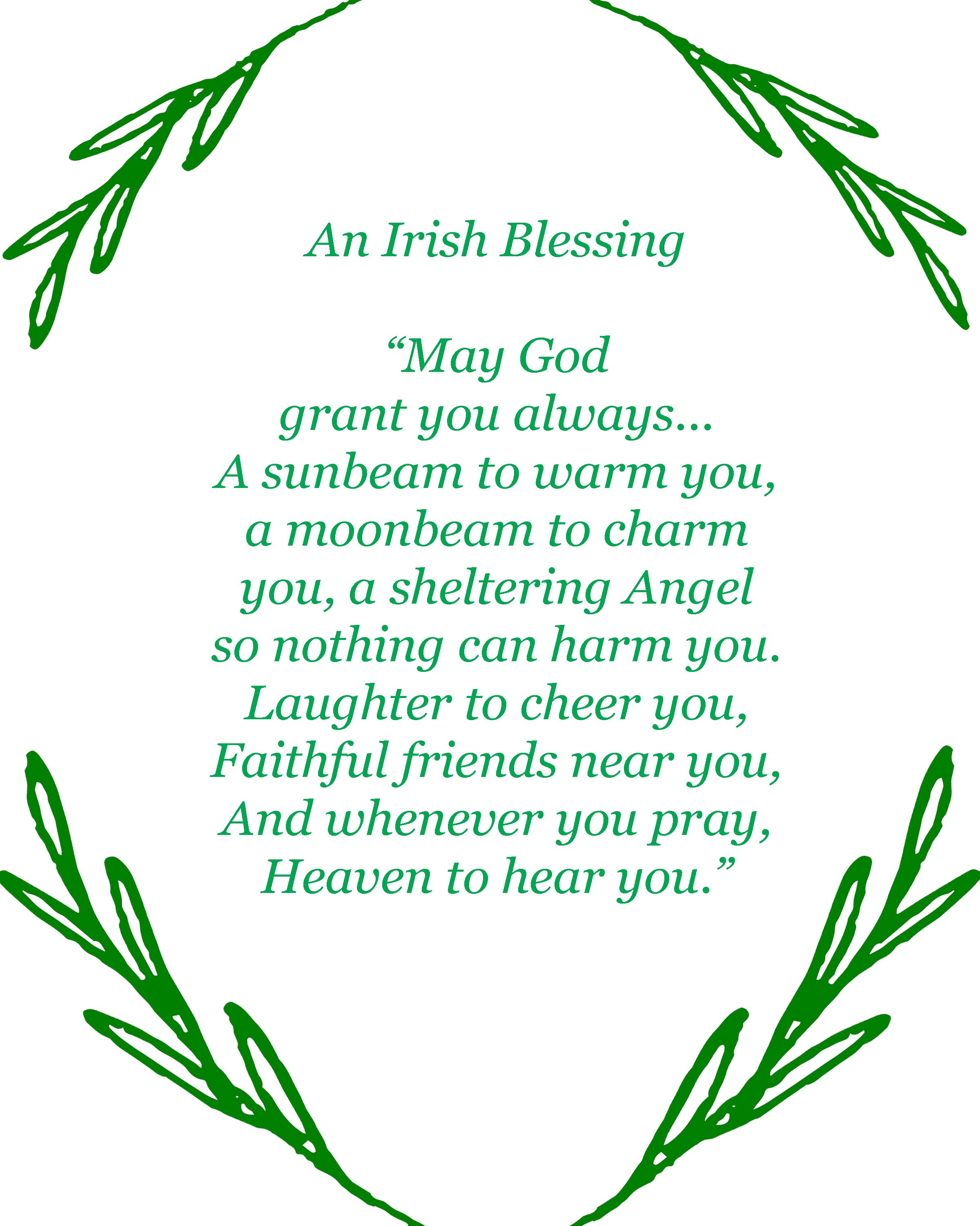image regarding Printable Irish Blessing named Pin upon BHGs Least difficult Property Decor Drive