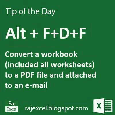 Convert A Workbook To A Pdf And Attach To An Email Learning Microsoft Excel Shortcuts Excel Hacks
