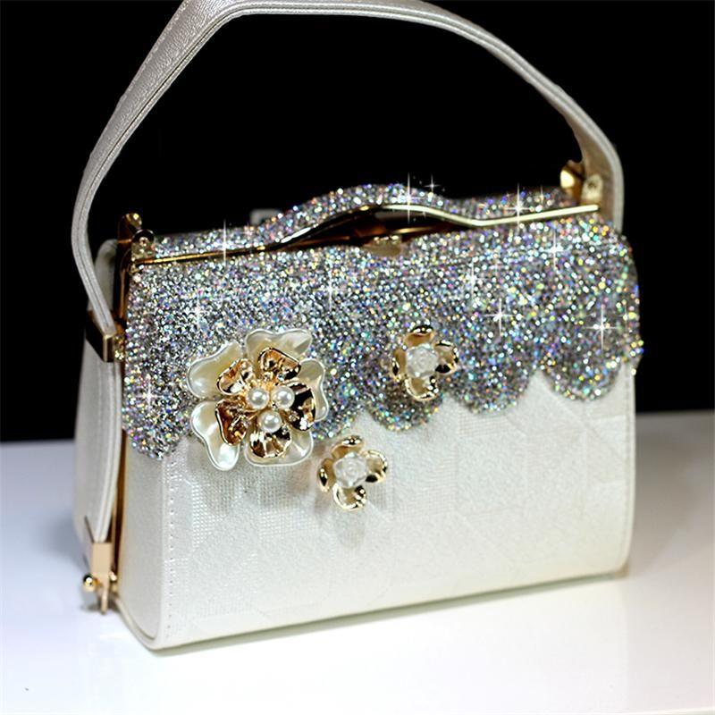 Black #3 New beaded sequins evening handbag//purse//clutch Colour