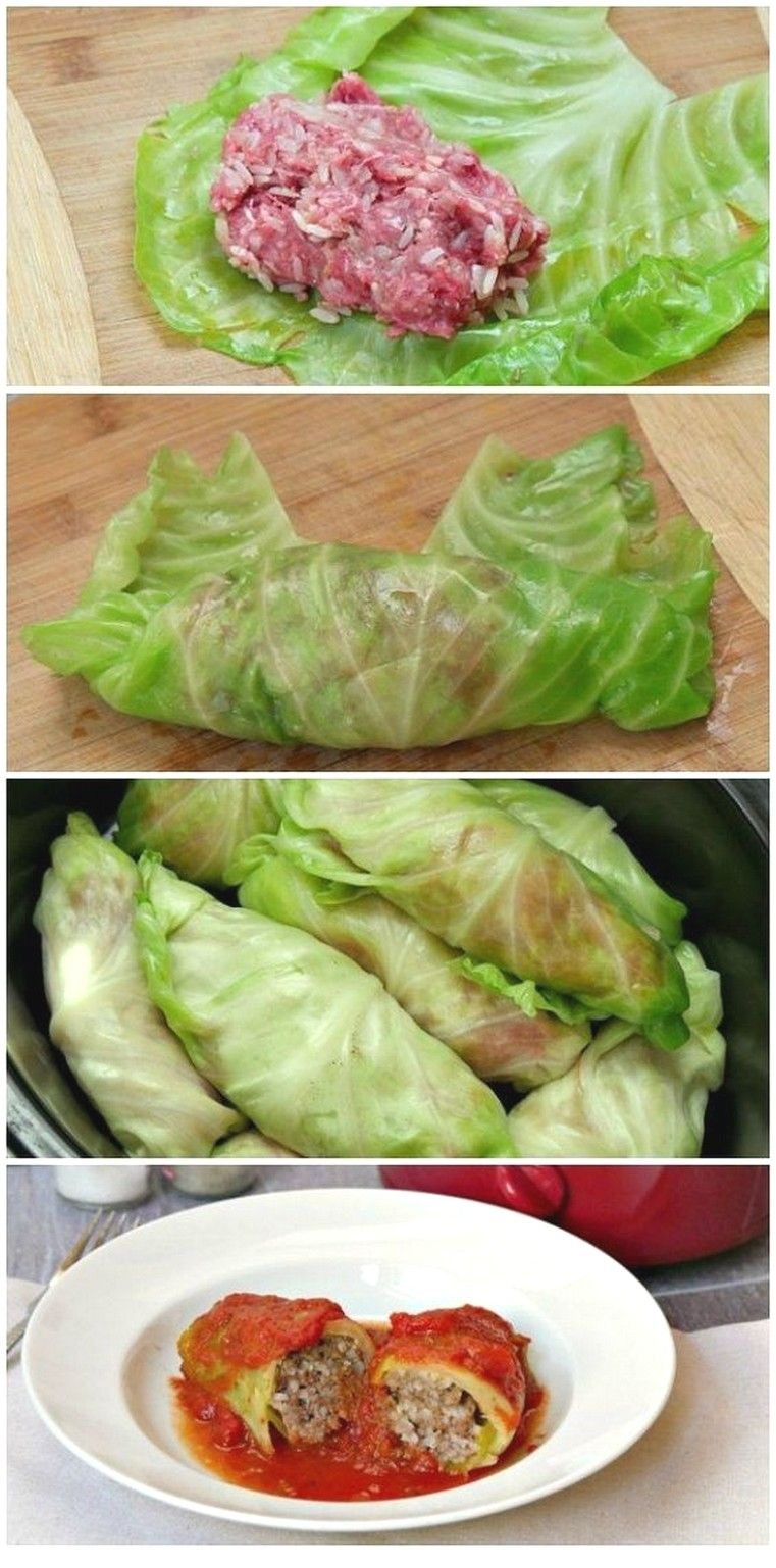 Slow Cooker Cabbage Rolls In Tomato Sauce #healthycrockpotrecipes