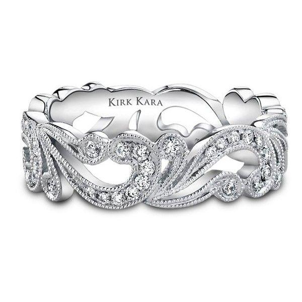 Stunning #diamond #wedding #band {Kirk Kara}