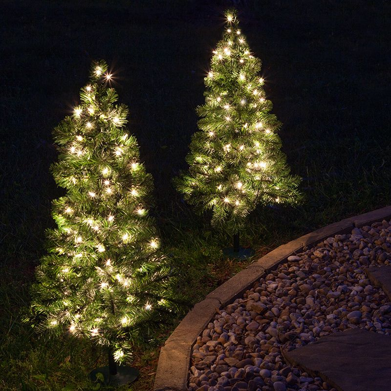 2 walkway pre lit winchester fir tree 50 clear lamps fir tree 2 walkway pre lit winchester fir tree 50 clear lamps holiday decor christmas decorationsoutdoor aloadofball Image collections