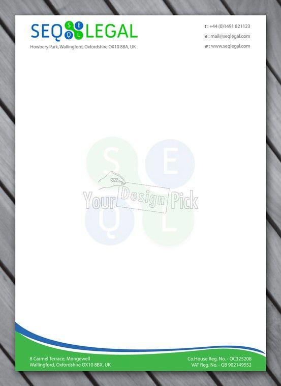 Letterhead Designs For Seo Legal From Yourdesignpick  Letterhead