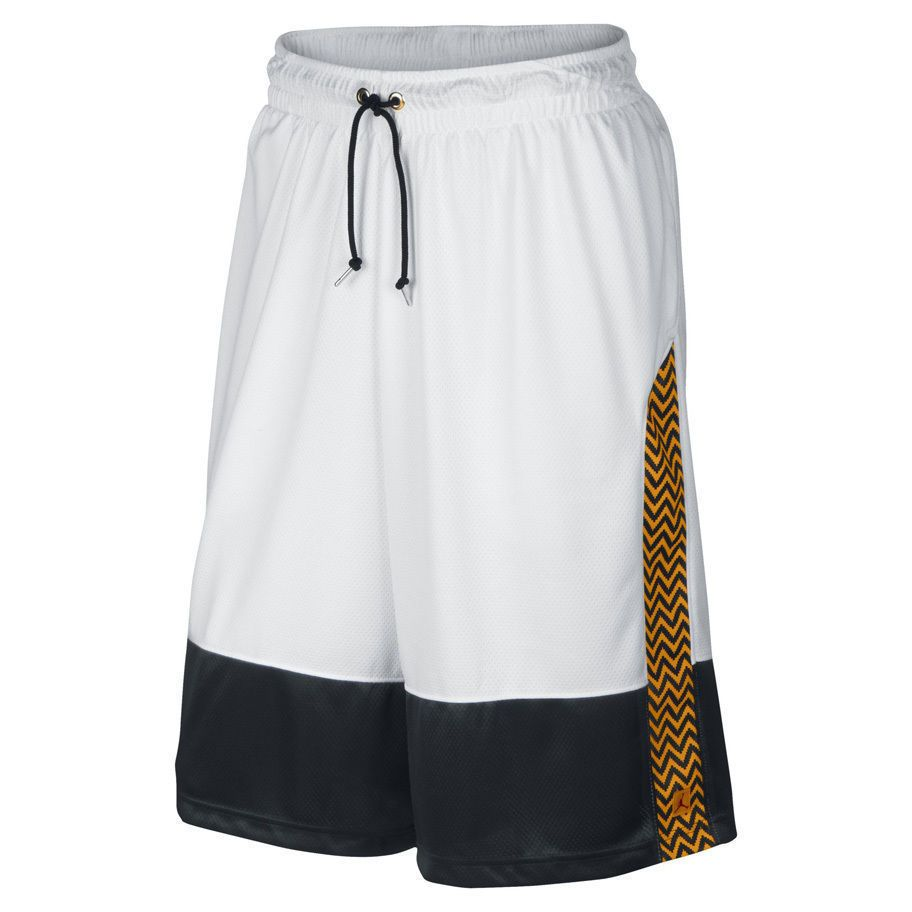 45fa0c9f531bd9 576815-100 AIR JORDAN XII TAXI Dri-Fit Basketball Shorts WHITE YELLOW BLACK  2XL  Jordan  Athletic