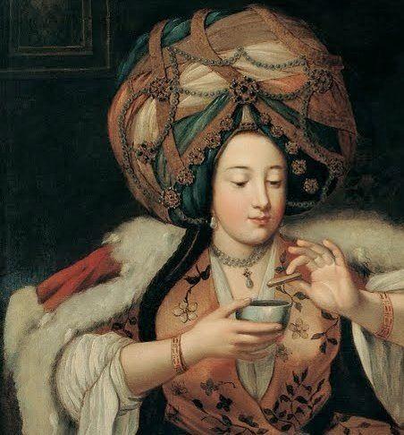 Ottoman Sultan enjoying his Coffee