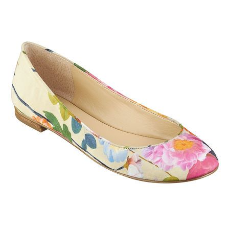 Nine West: Perfect for ingenues. Comes in solid back, nude and other colors. comfy round toe flat. ON SALE for $49