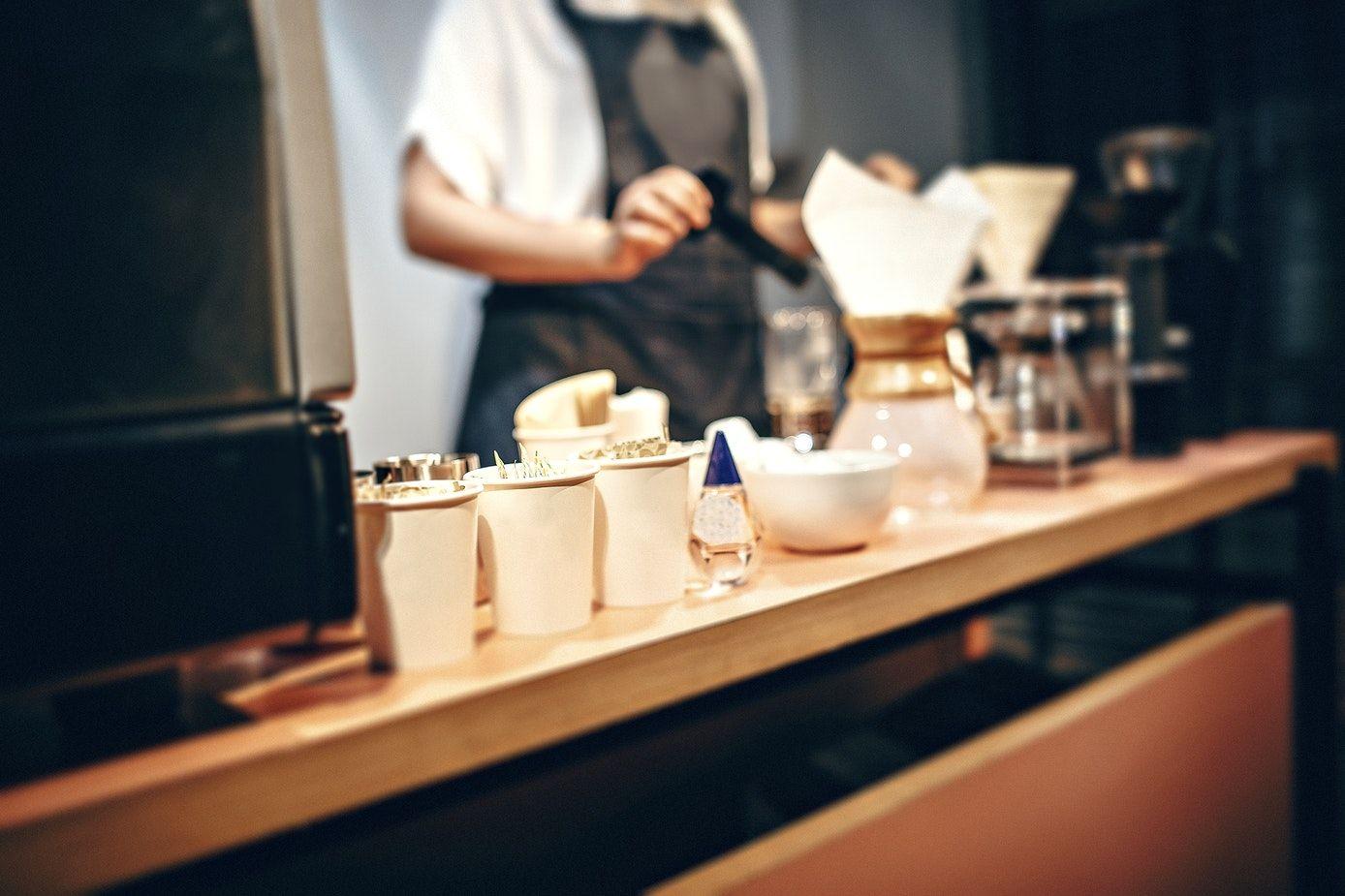 Aletta ocean fucks in a coffee shop