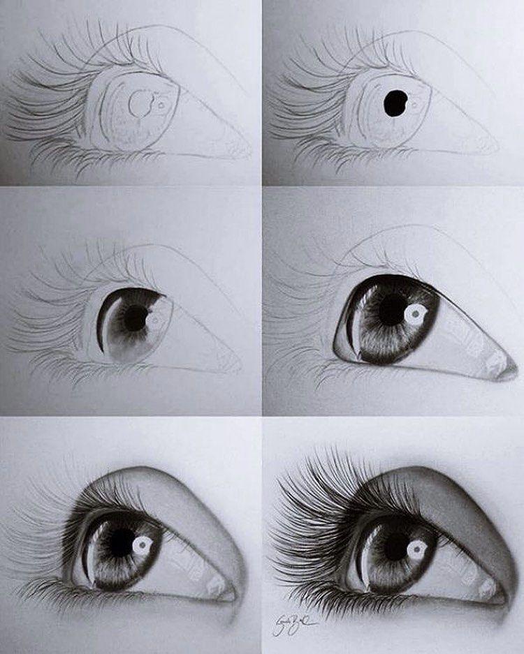 خطوات رسم العين Eye Drawing Steps Drawing Art Draw Artist Paper Sketch Tattooart Watercolor Art Drawings Art Drawings Beautiful Art Drawings Simple