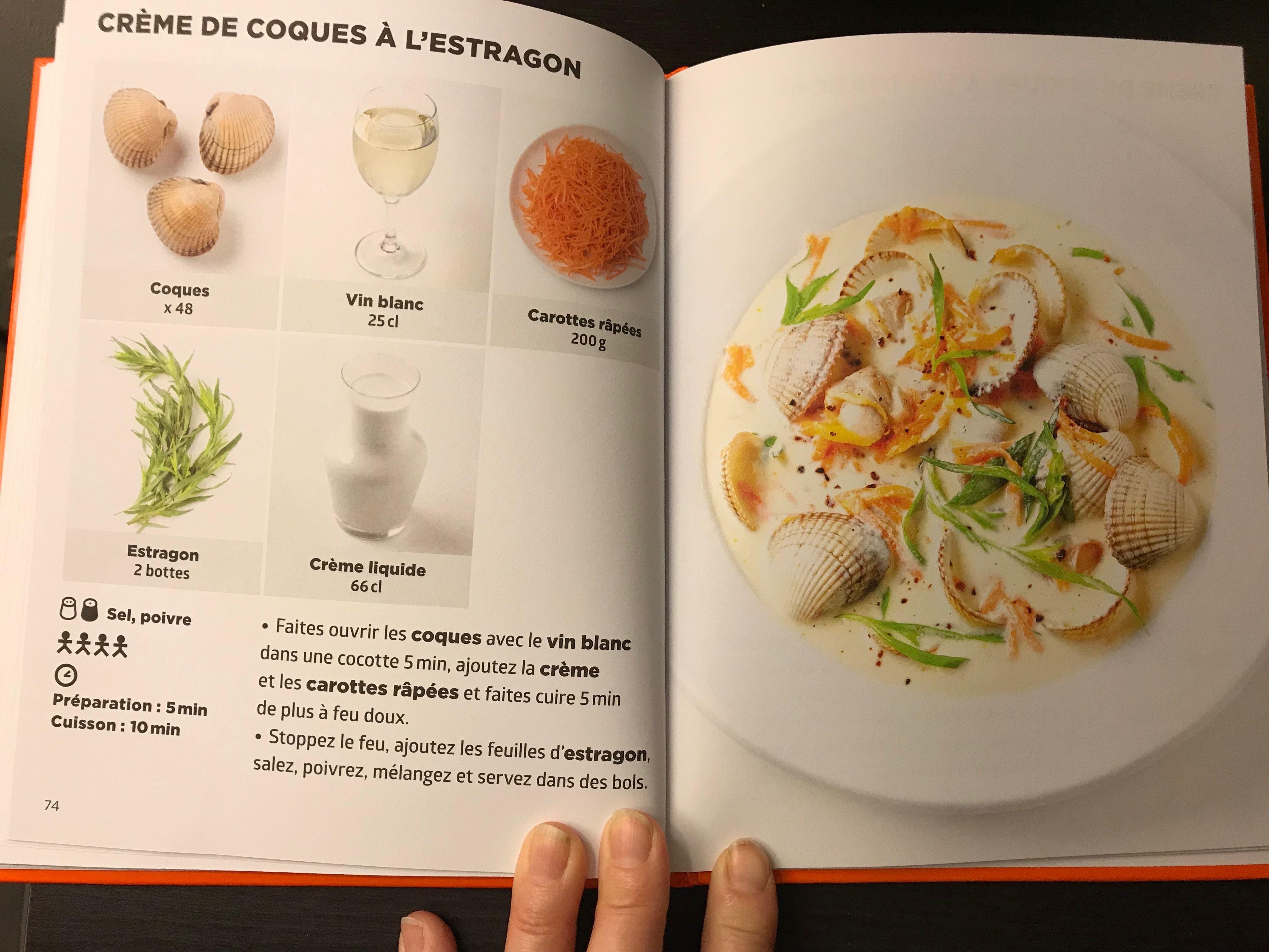 Simplissime Creme De Coques A L Estragon Cuisine In 2019