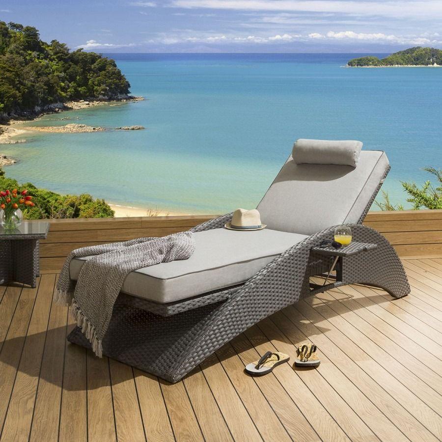 Quatropi Luxury Garden Rattan Lounger / Sunbed / Daybed ...