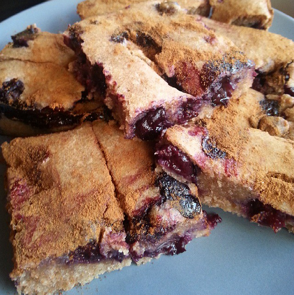 Vegan oozey blueberry squares - For recipe: http://maidenhk.org/2015/09/09/my-top-10-favourite-treats-part-1/