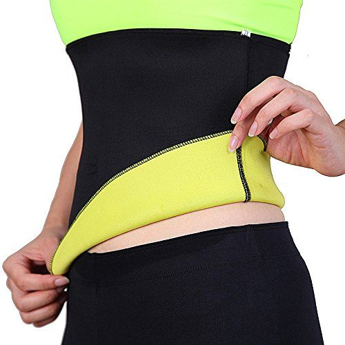 Hot Waist Trainer Neoprene Body Shaper Double Belt Women Slim Sweat Sauna Suits