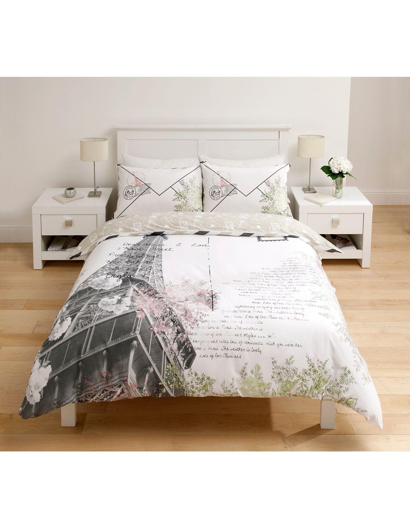 george home parisian postcard duvet set single bedding asda rh pinterest at