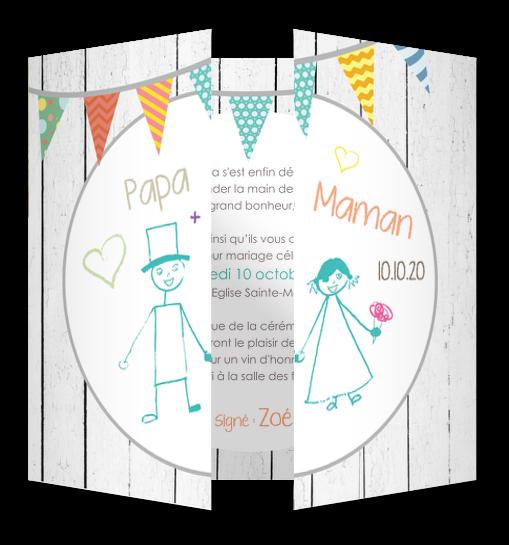 Faire part mariage enfant │ Planet Cards mariage