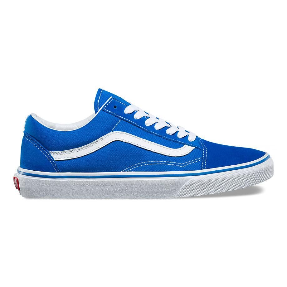 Latest Latest Vans Imperial Blue White Old Skool Suede And Canvas Trainers for Men Sale Online Online
