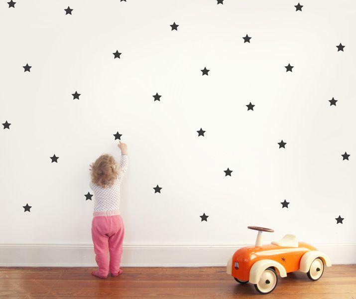 Wandtattoo wandsticker sterne von eulenschnitt auf for Wandtattoo kinderzimmer punkte
