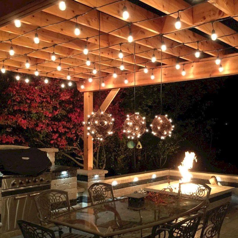 30 Creative Outdoor Lighting Designs For Backyard Pergola