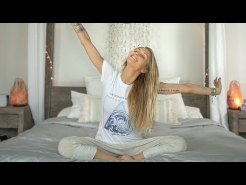 morning yoga in bed  gentle wake up yoga for a perfect
