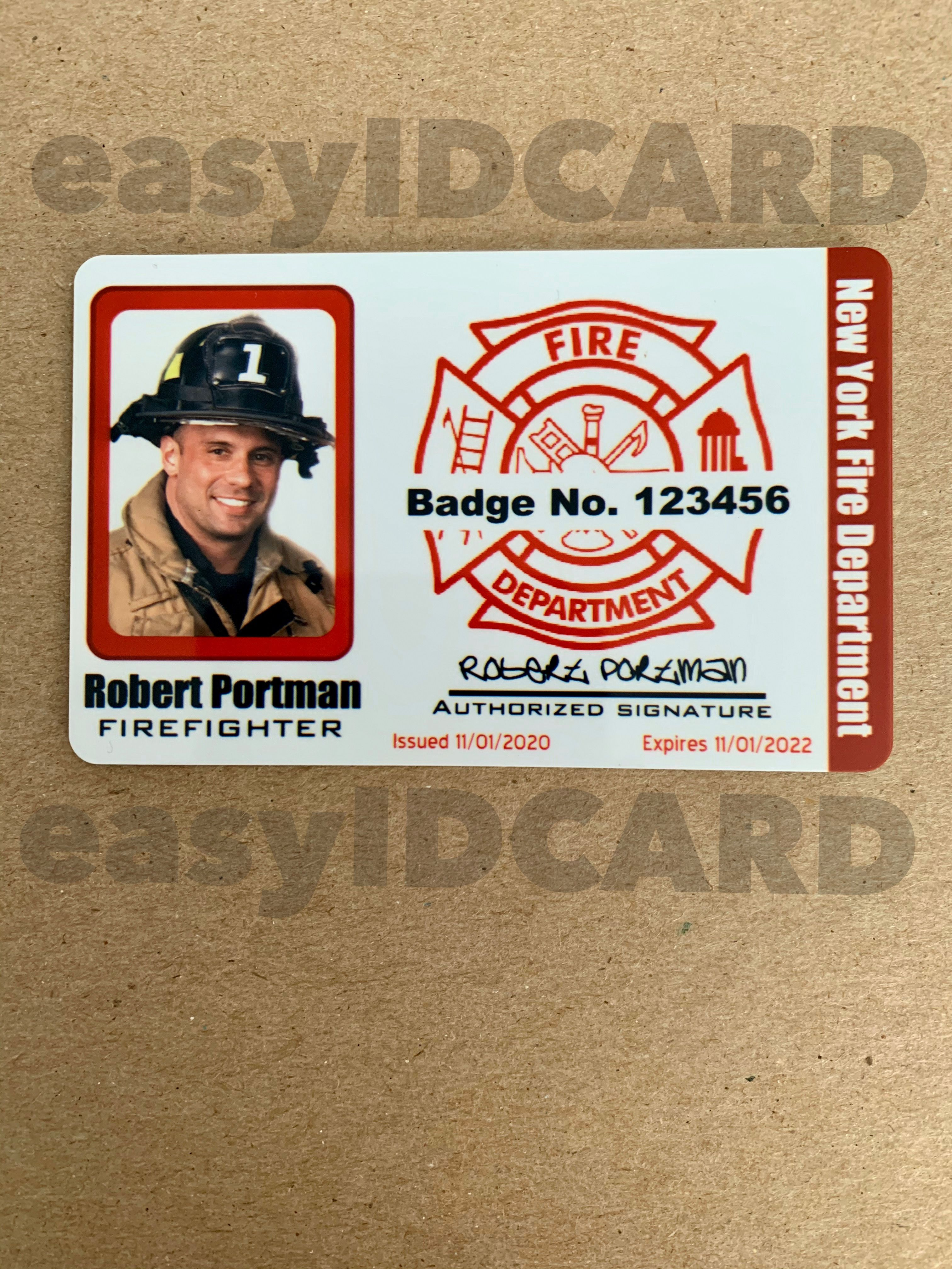 Firefighter Id Card Id Card Template Employee Id Card Cards
