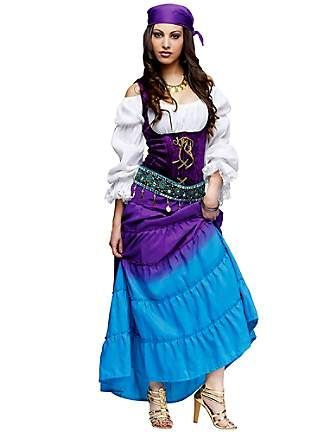 another gypsy costume idea.. clearly Iu0027m into the gypsy idea for Halloween! haha  sc 1 st  Pinterest & Gypsy Moon Adult Costume | Costumes Halloween costumes and Fortune ...