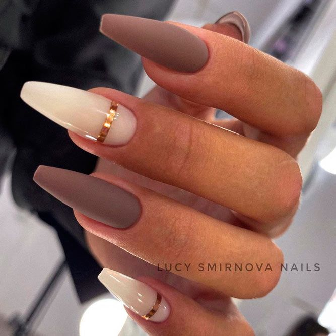 35+ Fantastic Designs For Coffin Nails You Must Tr