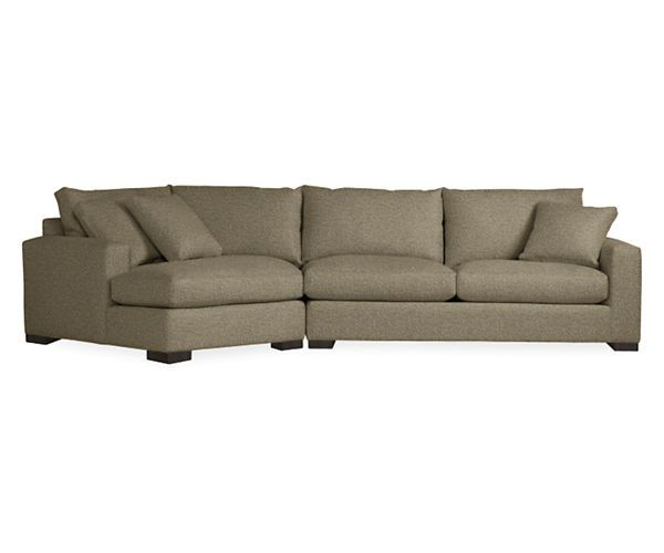 Attractive Metro Sofas With Angled Chaise