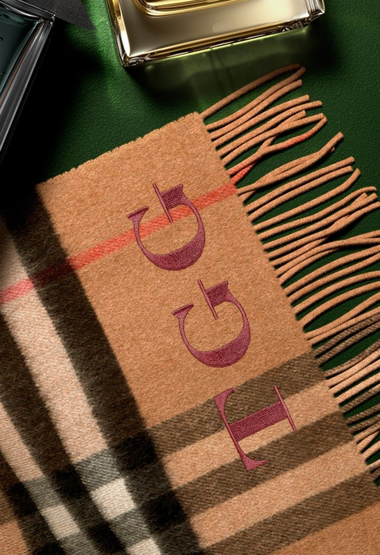 burberry scarf initials