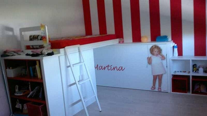 Habitaci n personalizada con litera en forma de l cama for Formas muebles juveniles