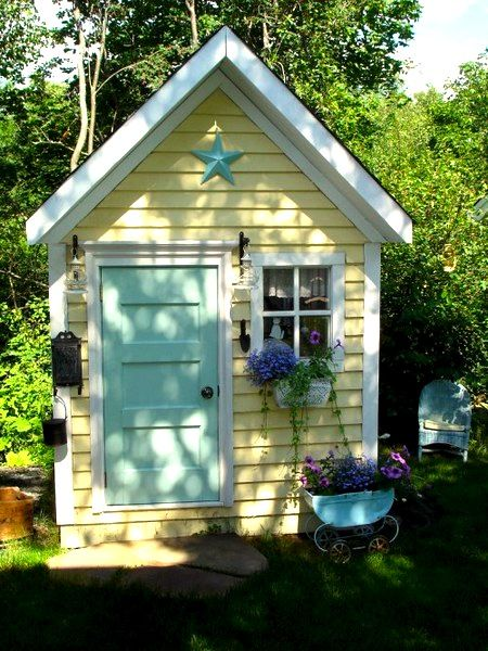 Garden Sheds For Kids yellow and green kids playhouse | kids✏ ✨✨✨✨ | pinterest