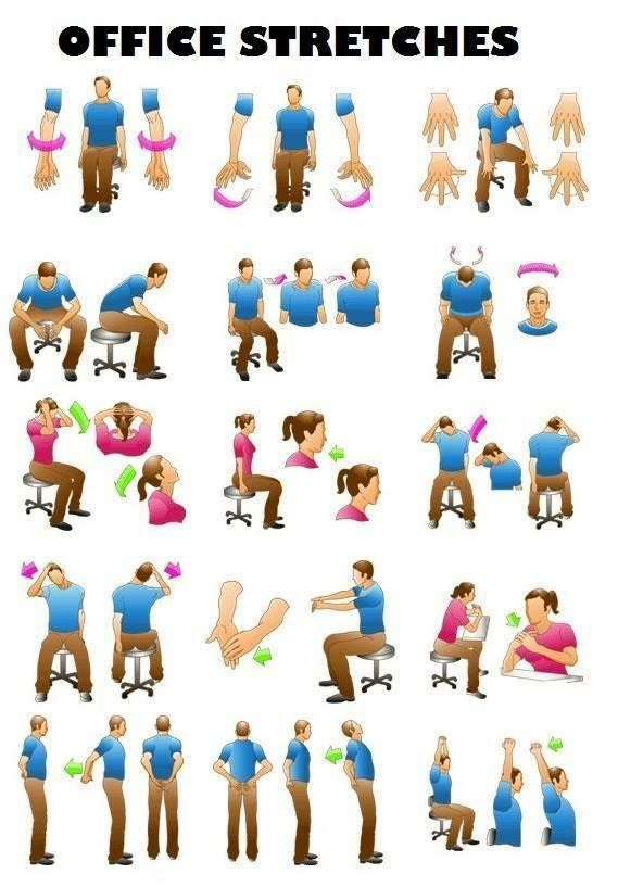Pin By Craig Stephens On Stretches Office Exercise