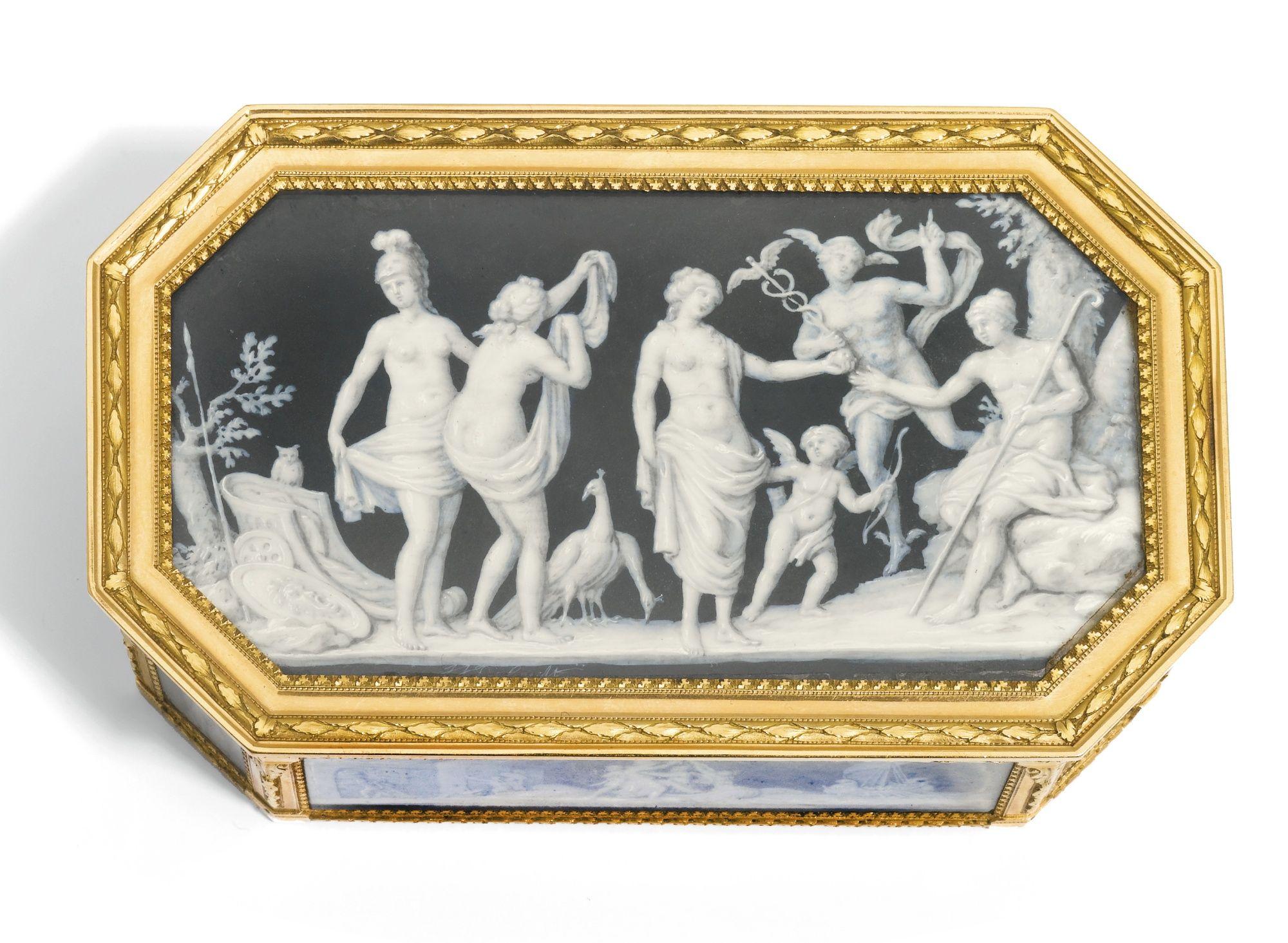 A GOLD-MOUNTED CAGEWORK BOÎTE À MINIATURES, ADRIEN-JEAN-MAXIMILIEN VACHETTE, PARIS, 1786