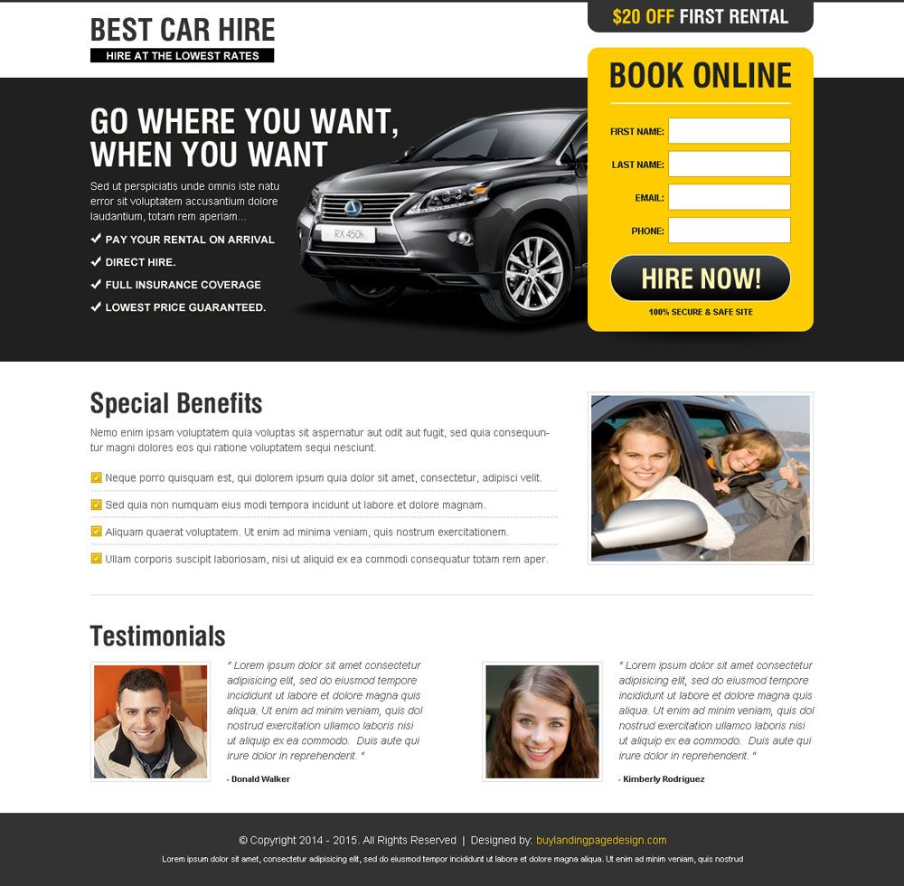 Sales Landing Page Templates. landing page design templates credit ...