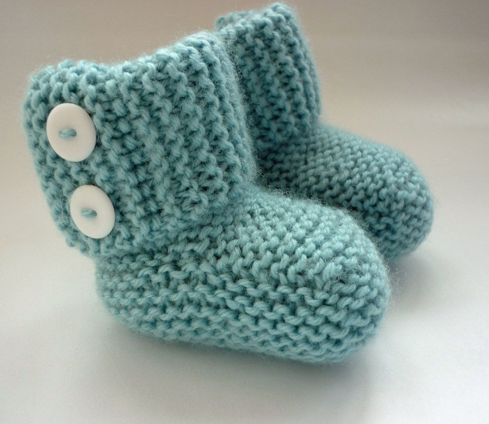 Baby Booties PDF Knitting Pattern, Knit Baby Boots Download, Baby ...