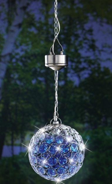 Solar Hanging Pendant Ball Outdoor Accent Light