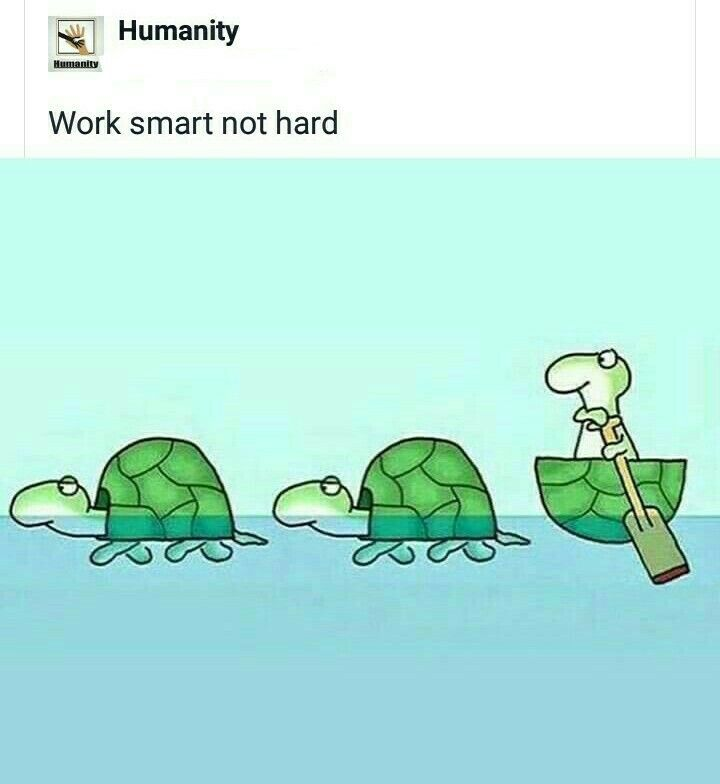 Work Smart Not Hard Funny Quote Team Work Motivation Inspirational Quotes Motivation Work Smarter