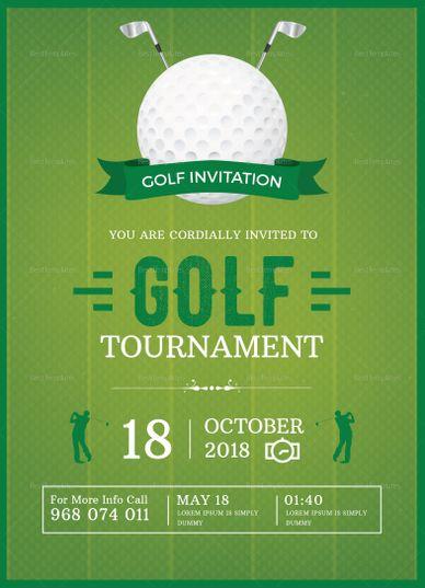 Golf Invitation Design