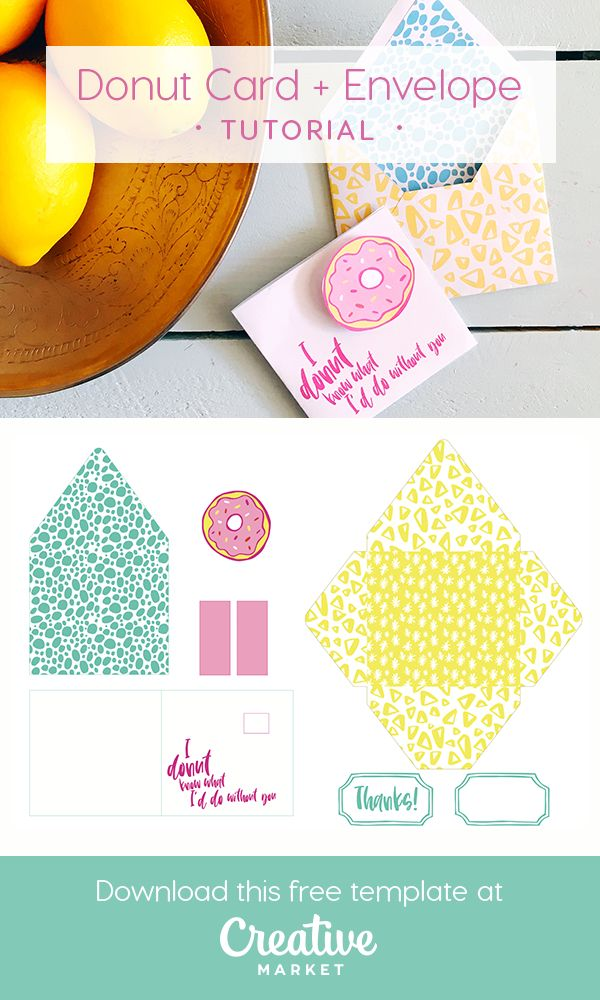Fun donut card and envelope tutorial envelopes tutorials and creative on the creative market blog fun donut card and envelope tutorial reheart Image collections