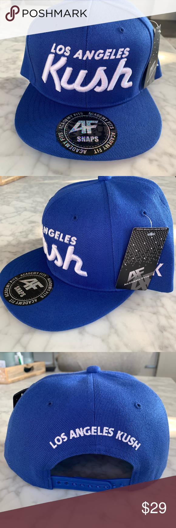 Los Angeles Kush Limited Edition Snap Back Hat Snap Backs Fitted Caps Fashion Trends