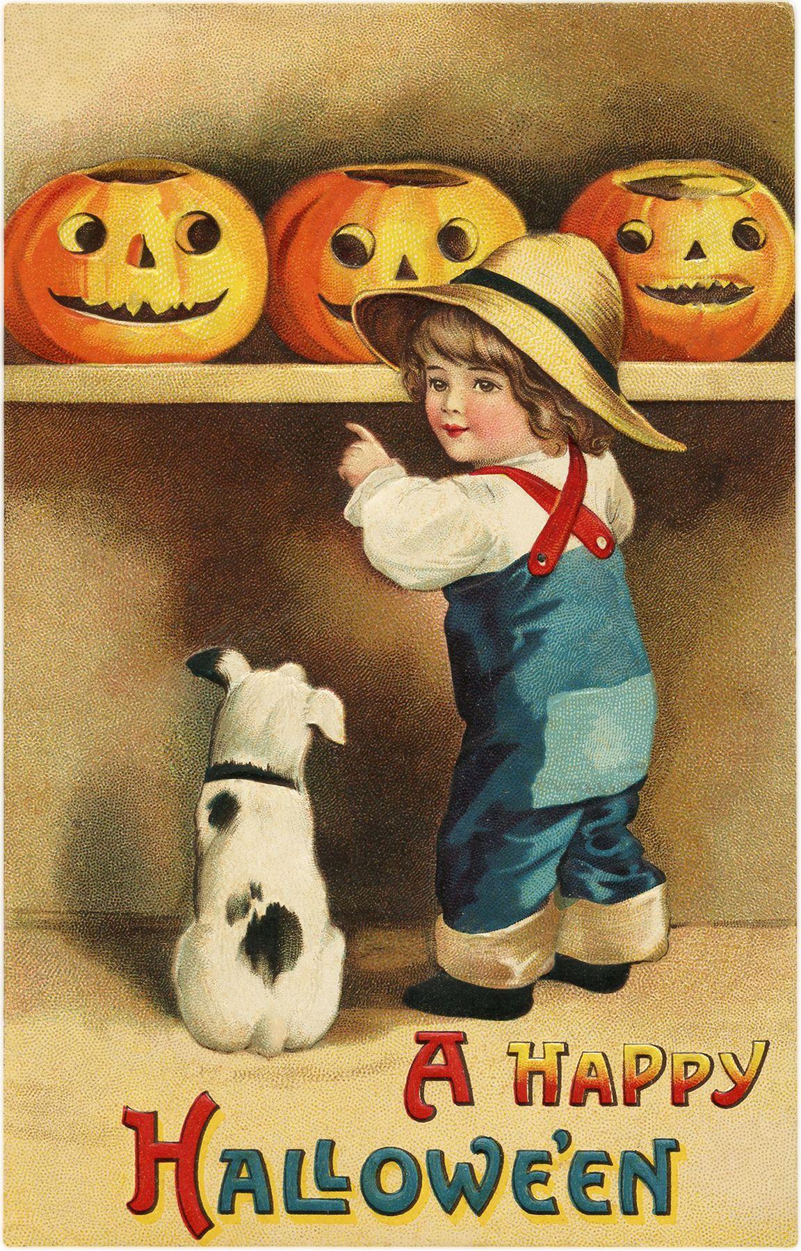 18 Halloween Kids With Pumpkins Clipart Updated Vintage Halloween Cards Vintage Halloween Greeting Cards Halloween Greetings