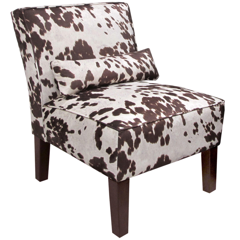Skyline Furniture Armless Chair In Udder Madness Milk Milk  # Muebles Peekskill